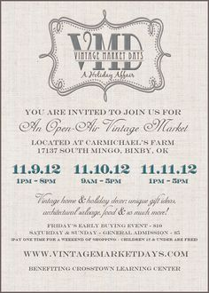 Vintage Event you don't want to miss!