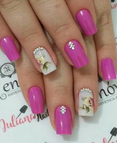 Best Nail Art Designs 2018 Every Girls Will Love These trendy Nails ideas would gain you amazing compliments. Check out our gallery for more ideas these are trendy this year. Best Nail Art Designs, Beautiful Nail Designs, Pretty Nail Art, Cool Nail Art, Nail Polish Style, Kawaii Nail Art, Super Cute Nails, Flower Nails, Trendy Nails
