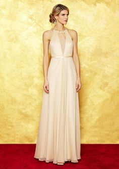 Pretty!  If only I had somewhere to wear it.    Hoaglund new york halter deep v-neck gown