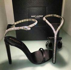 Saint Laurent High Heels with Diamond Snake - Stiletto Shoes Ysl Heels, High Heels, Shoes Heels, Stilettos, Ysl Sandals, Pumps, Sandal Heels, Silver Sandals, Cute Shoes
