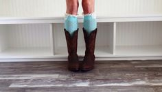 A personal favorite from my Etsy shop https://www.etsy.com/listing/213334950/womens-mint-boot-socks-womens-boot-cuffs