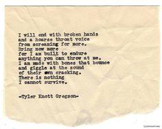 792 - Tyler Knott Gregson