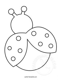 Ladybug With Wings Open Felt Crafts Patterns, Applique Patterns, Quilt Patterns, Toddler Crafts, Crafts For Kids, Ladybug Crafts, Flower Template, Butterfly Template, Spring Crafts