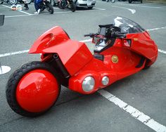 It looks like this bike is from a anime. Akira.