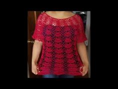 Blusa en crochet  (ganchillo)de abanicos parte 1 - YouTube