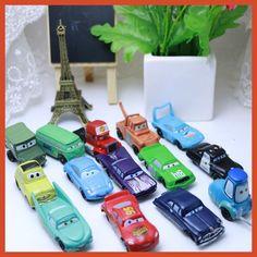 14pcs/Set Disney Pixar Cars 2-7cm Figures Mini PVC Action Figure Model Toys Dolls Classic Lightning McQueen Toys for Children