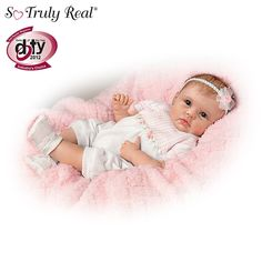 "So Truly Real ""Olivia's Gentle Touch"" Lifelike Baby Girl Doll By Linda Murray from Bradford Exchange on shop.CatalogSpree.com, your personal digital mall."