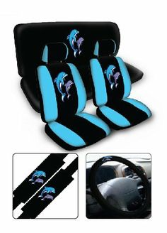 Car Seat Cover Sets, Seat Covers, Dolphin Bedroom, Dolphins Animal, Dolphins Tattoo, Dolphin Art, Things To Buy, Stuff To Buy, Beach Crafts