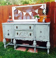 Antique Sideboard In Robins Egg Blue Vintage Market And Design Furniture Paint Www Facebook Simplyshabbyinteriors