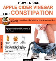 Apple Cider vinegar for constipation: Does it work? Using Apple Cider Vinegar for constipation relief is a natural and home made process of combating the problem. apple cider vinegar contains natural laxativ Constipation Remedies, Constipation Relief, Acv And Honey, Natural Colon Cleanse, Healthy Lifestyle Changes, Apple Cider Vinegar, Cleaning, Health Benefits, Health Tips