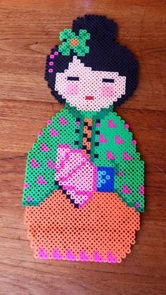 Kokeshi perler beads by Crank Up Creations