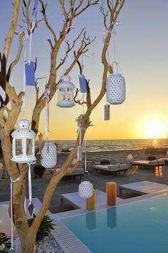 Lanterne arabe per allestimento matrimonio in spiaggia