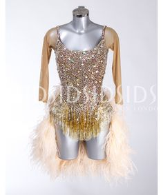 c9568cfe9c1402 405232 Gold and Tan Latin Dress | Latin dresses for sale | Dance dresses  for sale