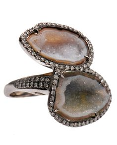 "Geode ring :) pretty neat! never forget my geology teacher, ""Geology rocks!"" haha"