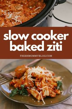 Slow Cooker Baked Ziti, Slow Cooker Recipes, Crockpot Recipes, Cooking Recipes, Healthy Recipes, Yummy Recipes, Soup Recipes, Yummy Food, Easy Baked Ziti