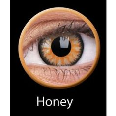 607d276777d Our ColourVUE Glamour Honey Contact Lenses offer a vivid change of color  with a black outer circle for more defined eyes. These lenses have an Aztec  design ...