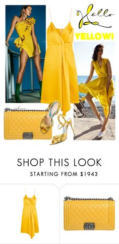 """Hello Yellow"" by arethaman ❤ liked on Polyvore featuring Moa', Victoria Beckham, Chanel, Summer and yellow"