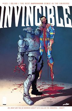 The cover to Invincible #121 (2015), art by Ryan Ottley & Jean-Francois Beaulieu