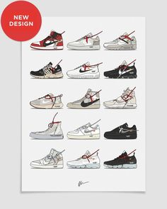Originally created illustration, by Dan Freebairn.<br><br>The ideal for the home or office, ideal for sneakerheads.<b>Details</b><ol> Sneakers Wallpaper, Shoes Wallpaper, Arte Dope, Dope Art, Hype Wallpaper, Wallpaper Art, Sneaker Posters, Shoe Wall, Hypebeast Wallpaper