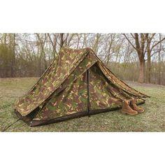 7bd4192cc36e5 Dutch Military Surplus Special Forces 2 Man Camo Tent, Used Military Surplus,  Tent Accessories