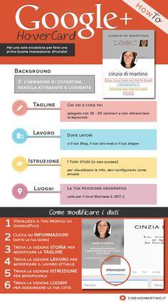 [infografica] Come ottimizzare la tua Google Plus HoverCard | cinziadimartino.it