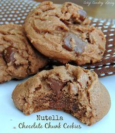 Nutella Chocolate Chunk Cookies