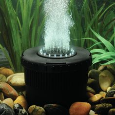Features:  -Aerates, filters, and beautifies your pond.  -Energy efficient 280 GPH pump provides oxygen to your pond.  -Use during winter to resist ice formation.  -White LED lights illuminate the bub