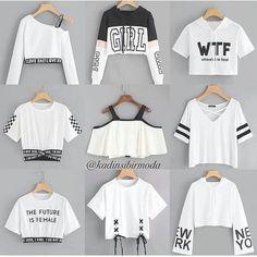 Girls Fashion Clothes, Teen Fashion Outfits, Mode Outfits, Cute Fashion, Girl Fashion, Kpop Outfits, Teen Clothing, Friends Fashion, Clothes Women