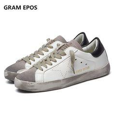 promo 2017 designer golden pu leather casual men trainers sport star dirty  goose shoes footwear zapatillas bcabc7808cf2