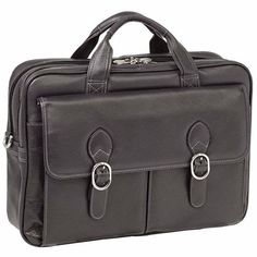 Buy the McKlein USA Hyde Park Double Compartment Laptop Case at eBags - Perfect for the professional on the go, this laptop case offers plenty of room for all of your perso Leather Laptop Case, Laptop Bag, 12 X 5, Cyber Monday Deals, Hyde Park, Black Friday Deals, Laptop Sleeves, Messenger Bag, Satchel