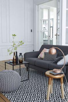 Déco salon : le gris nous fait de l'oeil - Côté Maison