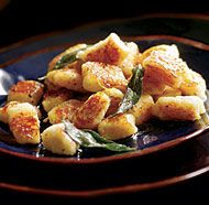 Pan-Seared Gnocchi with Browned Butter & Sage. I'm going to try this tonight with my sweet potato gnocchi