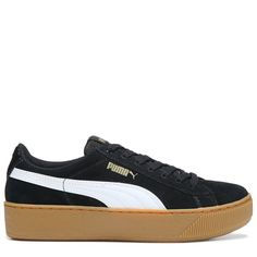 2c287b4495f Puma Women s Vikky Platform Sneakers (Black White) - 11.0 M Sneakers Looks