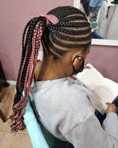 Little Girl Braids, Braids For Kids, Girls Braids, Single Braids Hairstyles, Baby Girl Hairstyles, Natural Hairstyles For Kids, Natural Hair Styles, Latest Braid Styles, Braid Ponytail