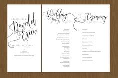 A Beautiful Wedding Program