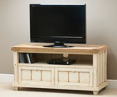 Painted Mango Wood Tv Unit Shabby Chic Stand Old