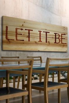 Let It Be Wood Wall Art.