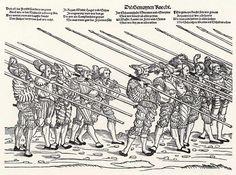 Der Heereszug der Landsknechte. Blatt 5, Die gemeynen Knecht (um 1535)
