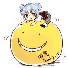 Koro-Sensei and Nagisa Ouran Highschool Host Club, Anime K, Koro Sensei, Nagisa Shiota, Nagisa And Karma, Fanart, Durarara, Manga Games, Noragami