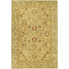 @Overstock - Handmade Majesty Light Brown/ Beige Wool Rug (3' x 5') - Complete your home decor with a hand-tufted wool rugTraditional rug features a light brown background and beige border highlighted in gold, rust, ivory and oliveRug is constructed of a 100-percent hand-spun wool pile     http://www.overstock.com/Home-Garden/Handmade-Majesty-Light-Brown-Beige-Wool-Rug-3-x-5/4328934/product.html?CID=214117  $76.49