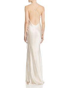 $ABS by Allen Schwartz Shimmering Wrap Gown - Bloomingdale's