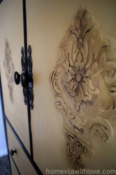 Tutorial on how to do a raised stencil on furniture