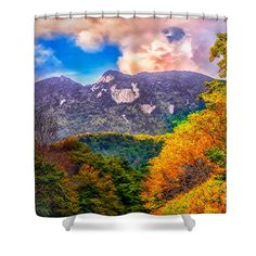 Autumn Shower Curtain featuring the photograph Autumn Peaks by Scott Hervieux