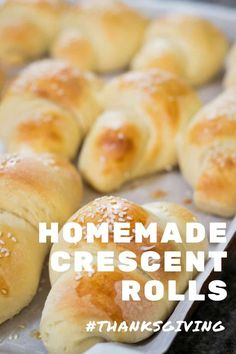 Homemade Sesame Seed Crescent Rolls are buttery, pillowy clouds of goodness, that will make your holiday table unforgettable. #rolls #crescentrolls #homemaderolls #homemade #sesameseedcrescentrolls Healthy Bread Recipes, Best Bread Recipe, Baking Recipes, Homemade Crescent Rolls, Homemade Dinner Rolls, Thanksgiving Recipes, Fall Recipes, Bread Baking, Yeast Bread