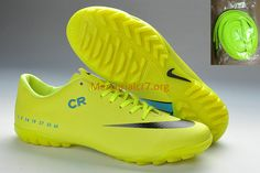 Mercurial CR7 Vapor IX TF Fluorescent Green Black Soccer Shoes Adidas  Soccer Boots f9e477ca0dac7