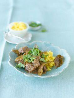 Rezept: Rindercurry mit breiten Bohnen