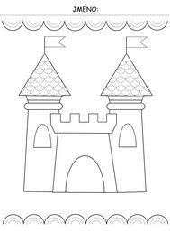 Easy Coloring Pages, Coloring Sheets, Coloring Books, Chateau Moyen Age, Art For Kids, Crafts For Kids, Flower Drawing Tutorials, Château Fort, Travel Toys