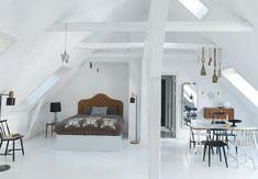 Clean feminine loft | Drømmefabrikken - BO BEDRE