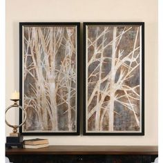Uttermost Twigs Hand Painted Art - Set of 2 - 41543