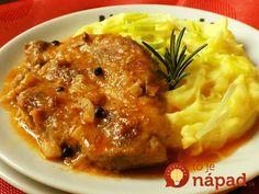 Na fb stránke U Miládky v kuchyni som našla tento výborný recept a keď potrebujem rýchly a chutný obed, vždy po ňom siahnem. Dá sa pripraviť aj z kuracieho mäsa, ale z bravčového je naozaj najchutnejší. Za 20 minút môžete podávať. Potrebujeme: 600 g bravčového pleca (4-5 plátkov po asi 150 g) – môžete použiť... Slovakian Food, Czech Recipes, Ethnic Recipes, Polenta, Easy Cooking, Cooking Recipes, Good Food, Yummy Food, Top Recipes